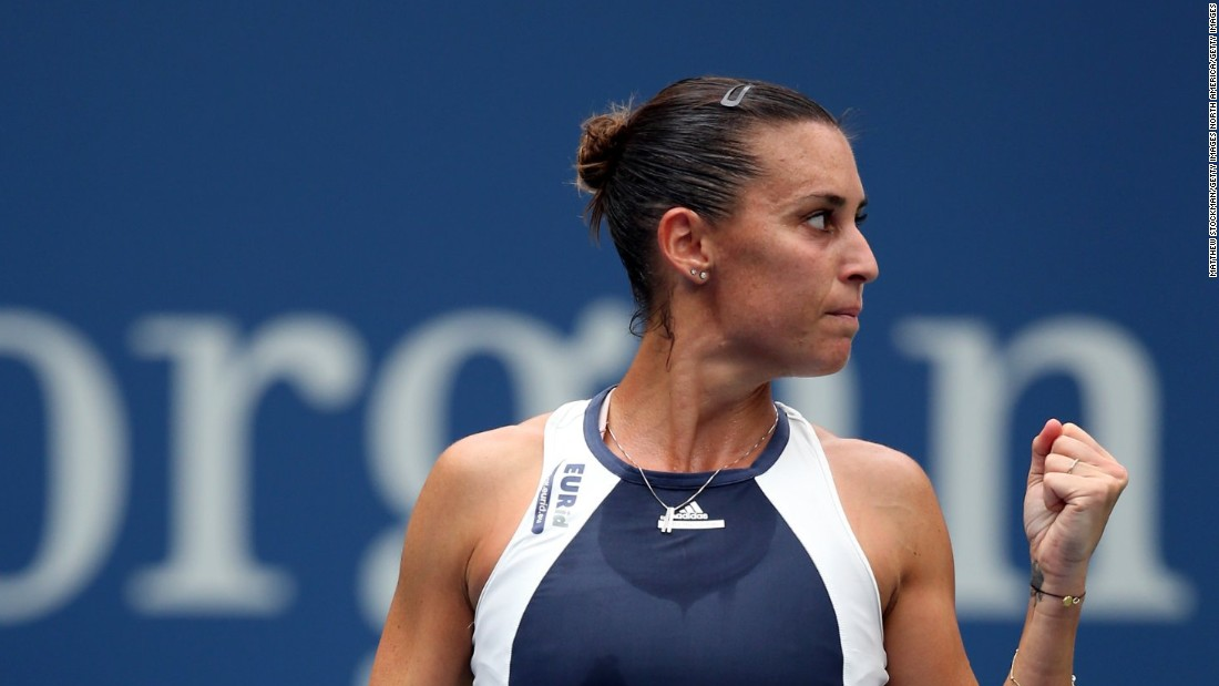 For the first time, there will be an all-Italian grand slam final because Flavia Pennetta beat No. 2 Simona Halep in another upset, 6-3 6-1.
