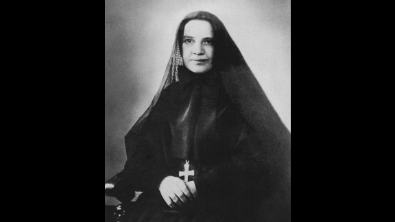 St. Frances Xavier Cabrini (1850-1917), known as Mother Cabrini, was the first American citizen to be canonized. The Italian-born nun founded the Missionary Sisters of the Sacred Heart of Jesus, and was canonized in 1946.