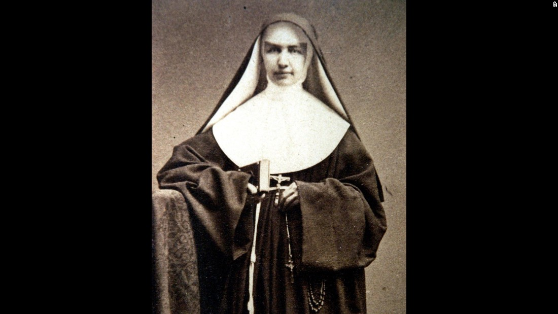 "<strong>St. Marianne Cope</strong> was born Barbara Koob in 1838 in West Germany, but her family moved to the United States when she was an infant. She joined the Sisters of St. Francis in her early 20s and received the name ""Sister Marianne."" She is best known for her work with people afflicted with leprosy in Hawaii. She died in Hawaii in 1918."