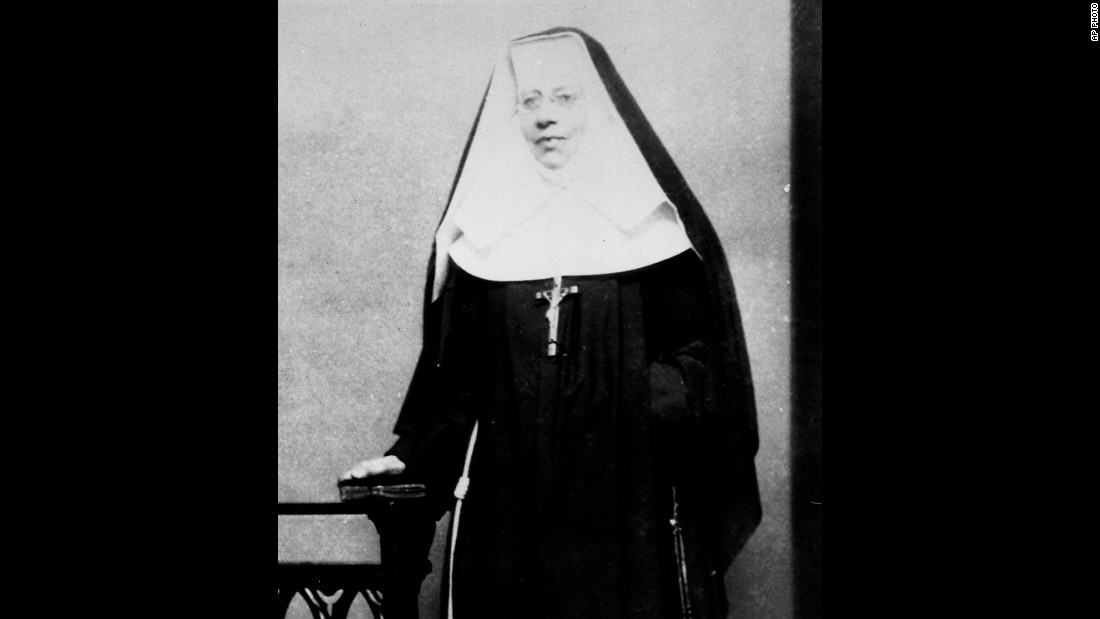 This is an undated photograph of <strong>St. Katharine Drexel</strong>.  She was born in Philadelphia in 1858 and died in 1955. The heiress-turned-nun and founder of Sisters of the Blessed Sacrament is best known for devoting her life and fortune to starting schools in 13 states for blacks, missions for Native Americans in 16 states and 40 other mission centers and 23 rural schools. Pope John Paul II canonized her in 2000.