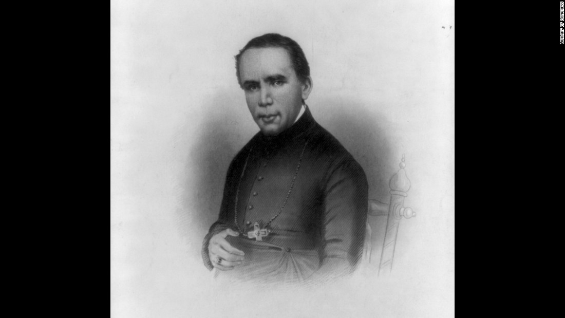 <strong>St. John Neumann</strong> was the first Redemptorist priest to profess his vows in the United States.  The German-born priest became a U.S. citizen in 1848, at age 36. He is best known for establishing the first unified system of Catholic schools in Philadelphia.