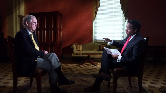 Senator Mitch McConnell there will not be a shutdown Planned Parenthood funding manu raju interview_00011007.jpg