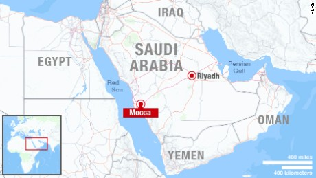 Mecca On A World Map.Mecca Mosque 107 Killed In Crane Collapse Cnn