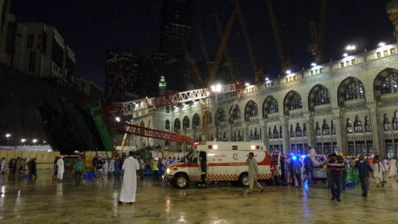 More than 50 rescue teams and 80 ambulances converged on the mosque.
