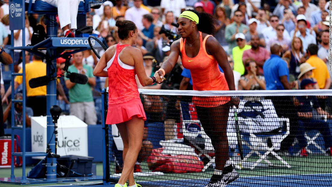 Serena was on the brink of a calendar grand slam before she was beaten in the semifinals of the U.S. Open by Italy's Roberta Vinci. It was one of the biggest shocks in recent memory and left her slam record in 2015 as played 27, won 26.