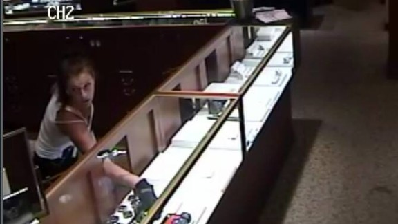 Police released this photo from the August 11 robbery of Reeds Jewelers in Panama City Beach, Florida.