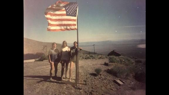 Barbara Sheahan-Manning, Mary Sheahan-Fuller, Martha Sheahan at their family property at Groom Mine.