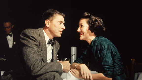 """Reagan married actress Nancy Davis in 1952. """"I think my life really began when I met Nancy,"""" Reagan once said."""