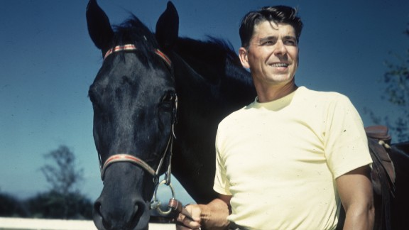 Reagan -- seen in this 1935 portrait -- enjoyed horseback riding.