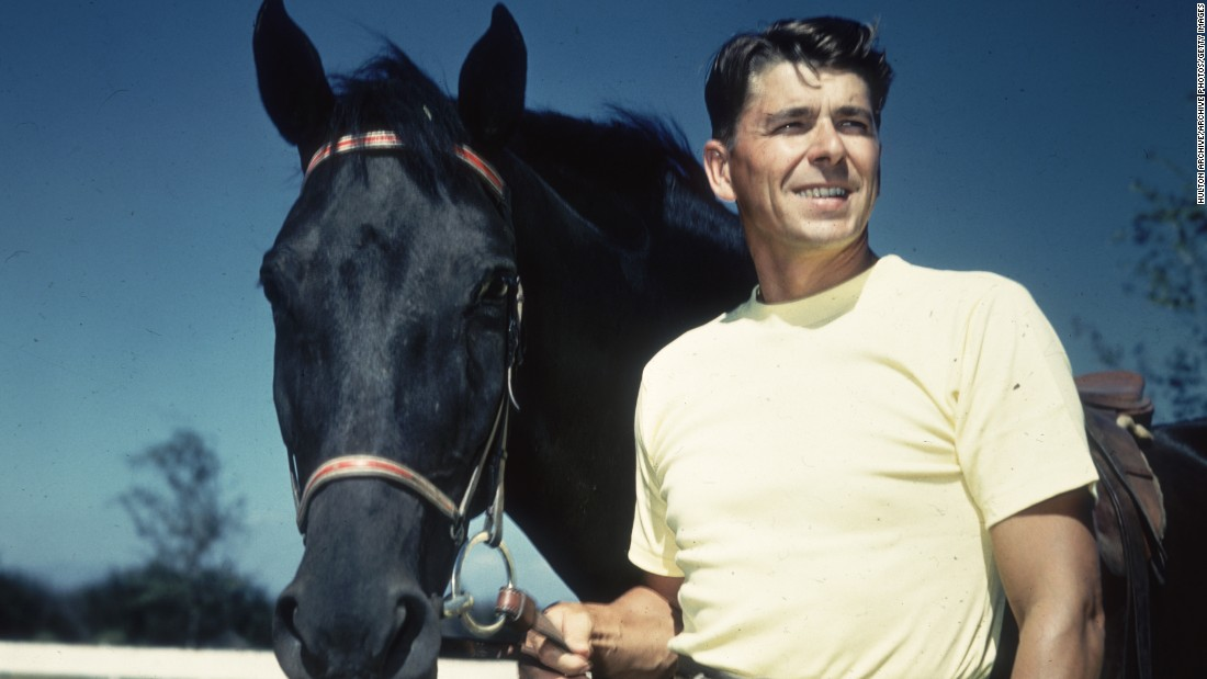 Reagan -- seen in this 1935 portrait -- enjoyed horseback riding.