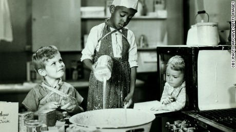 "Dickie Moore, left,  Matthew ""Stymie"" Beard and George ""Spanky"" McFarland in the 1932 episode ""Birthday Blues"" of ""Our Gang"" later to be known as ""The Little Rascals."""
