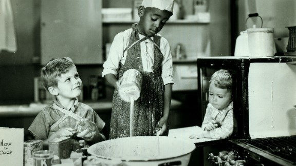 """Dickie Moore, left,  Matthew """"Stymie"""" Beard and George """"Spanky"""" McFarland in the 1932 episode """"Birthday Blues"""" of """"Our Gang"""" later to be known as """"The Little Rascals."""""""