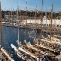 monaco classic week harbour boats