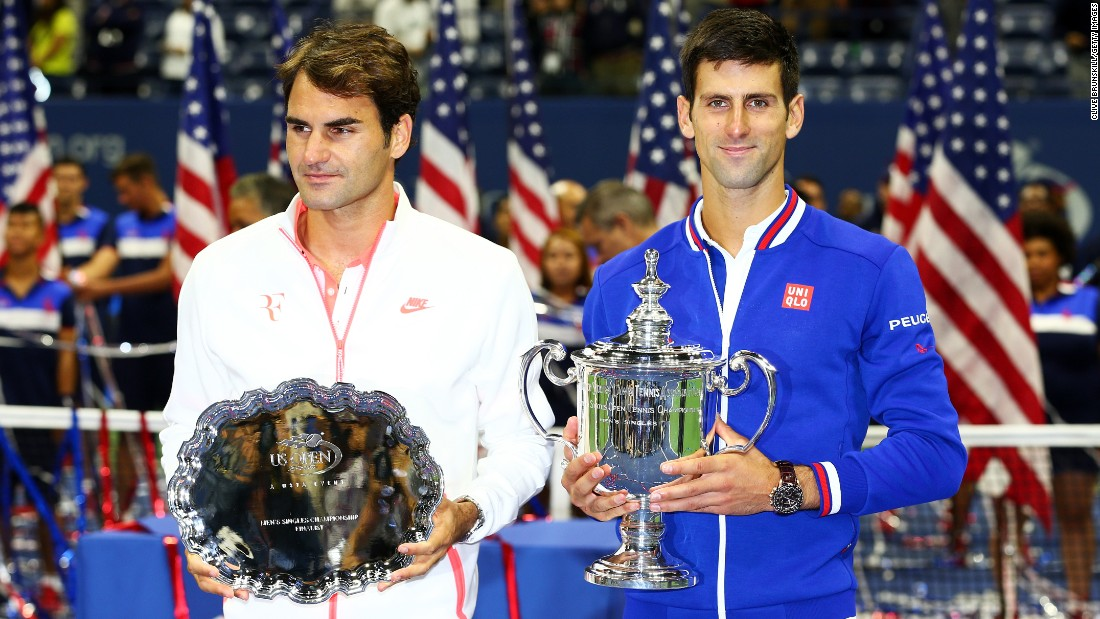 Djokovic (right) and Federer, ranked first and second in the world, met in the final at Flushing Meadows for the first time since 2007.