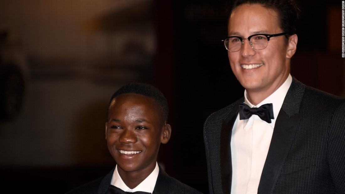 "Attah and Fukunaga attend the premiere of ""Beasts Of No Nation"" in Venice on September 3."