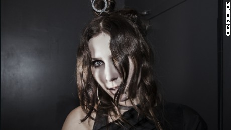 "Chelsea Wolfe, backstage in Washington D.C., is on a tour promoting her new album ""Abyss."""