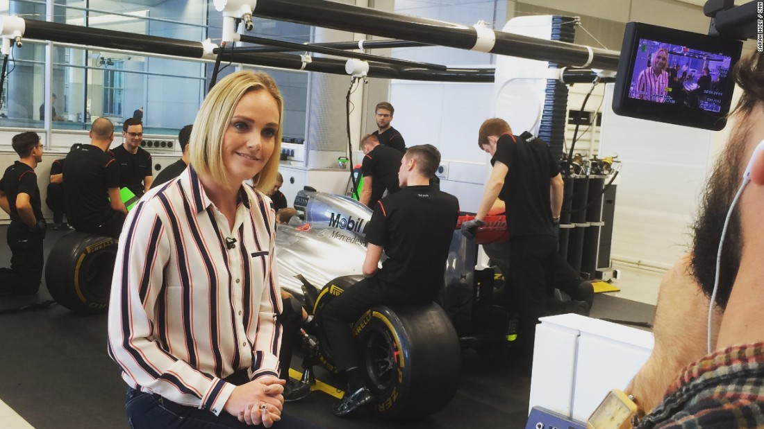 """You can't do pit stops in two seconds without sometimes losing a wheel nut,"" explains McLaren racing director Eric Boullier as the race crew practice pit stops behind anchor Amanda."