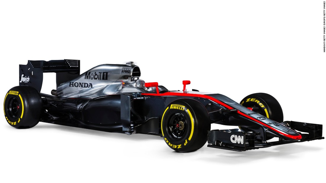 """An F1 car is composed of 76,000 parts and we building a new part every 17 minutes,"" Boullier says. This is the McLaren car driven by Jenson Button and Fernando Alonso during the 2015 season."