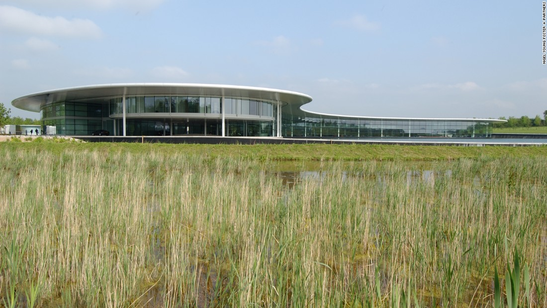 The McLaren Technology Centre may be high tech but it's also at one with nature. It was built on 50 hectares of exhausted farmland by architects Norman Foster and partners. Now the land is rich with wildlife. In 2011 McLaren Racing was announced as the first ever carbon neutral team in F1.