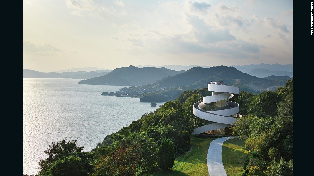 "Hiroshi Nakamura, CEO of Hiroshi Nakamura & NAP Co. Ltd, says the chapel's form-defying design symbolizes the union of marriage: ""Just as two lives go through twists and turns before uniting as one, the two spirals seamlessly connect at the top to form a single ribbon. By entwining two spiral stairways, we realized a free-standing building of unprecedented composition could architecturally embody the act of marriage. At this chapel, bride and groom ascend the stairs separately to be joined together at the top, ask for heaven's pardon, and declare their marriage."""