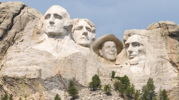 Mount Rushmore with Reagan