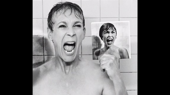 """Jamie Lee Curtis gets her acting gene from parents Janet Leigh and Tony Curtis. Leigh is best known for her role in Alfred Hitchcock's 1960 classic, """"Psycho."""" To promote her series """"Scream Queens,"""" Curtis re-created Leigh's famous shower scene in """"Psycho,"""" teasing it on Instagram."""