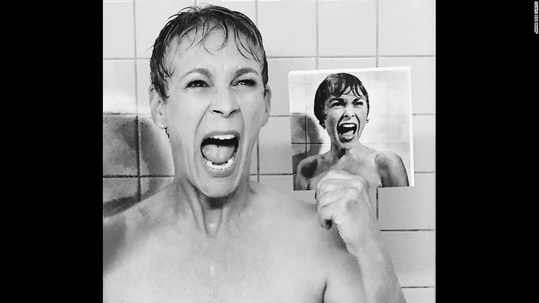 "Jamie Lee Curtis gets her acting gene from parents Janet Leigh and Tony Curtis. Leigh is best known for her role in Alfred Hitchcock's 1960 classic, ""Psycho."" To promote her series ""Scream Queens,"" Curtis re-created Leigh's famous shower scene in ""Psycho,"" teasing it on Instagram."