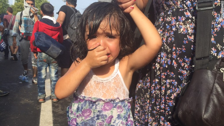 Image result for migrant child crying