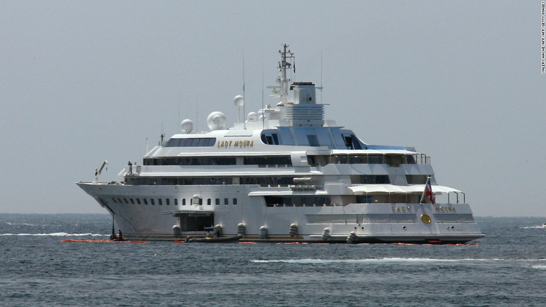 The ninth largest yacht in the world when built, the Lady Moura has since slipped out of the top 30. Owned by Saudi Arabian businessman Dr Nasser al-Rashid, it houses a pool that can be indoors or out as the weather befits. It famously ran aground at the 2007 Cannes Film Festival.