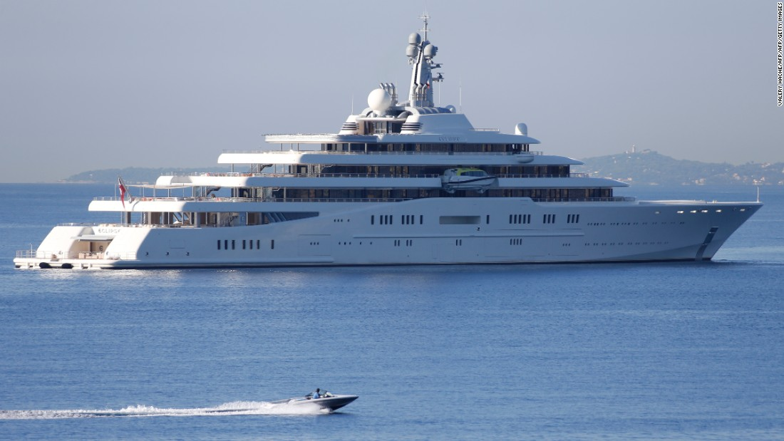 Eclipse Is The Motor Yacht Of Chelsea Owner Roman Abramovich And A Staggering 163 5 Meters