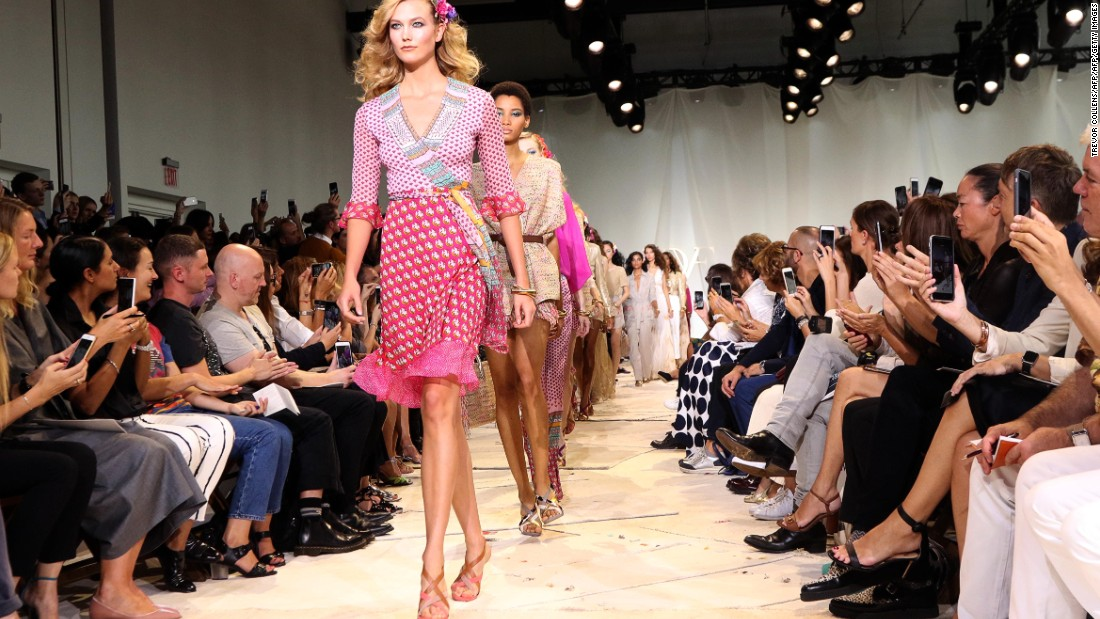 Diane von Furstenberg evoked glamorous 1970's summers on the runway.