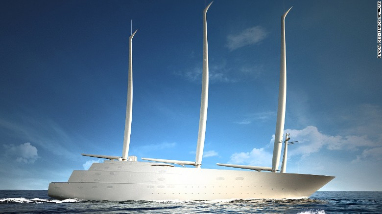 An Image Of What The 450 Million Superyacht QuotAquot Will Look Like When