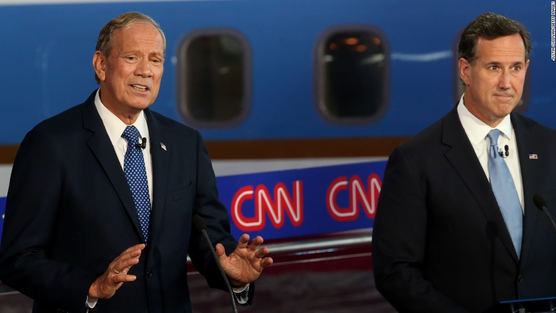 Pataki makes a point during the debate.
