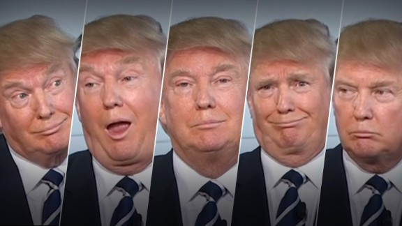 Many people on the Internet decided that GOP candidate Donald Trump is the most expressive person running for president. Here