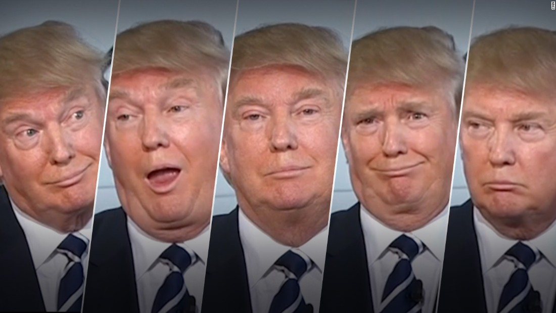 The many facial expressions of Donald Trump
