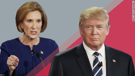 Fiorina wins when she stumps Trump