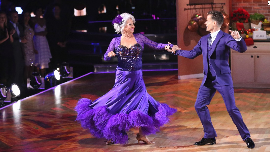 Chef Paula Deen, who was partnered with Louis Van Amstel, was voted off in week five of the show.