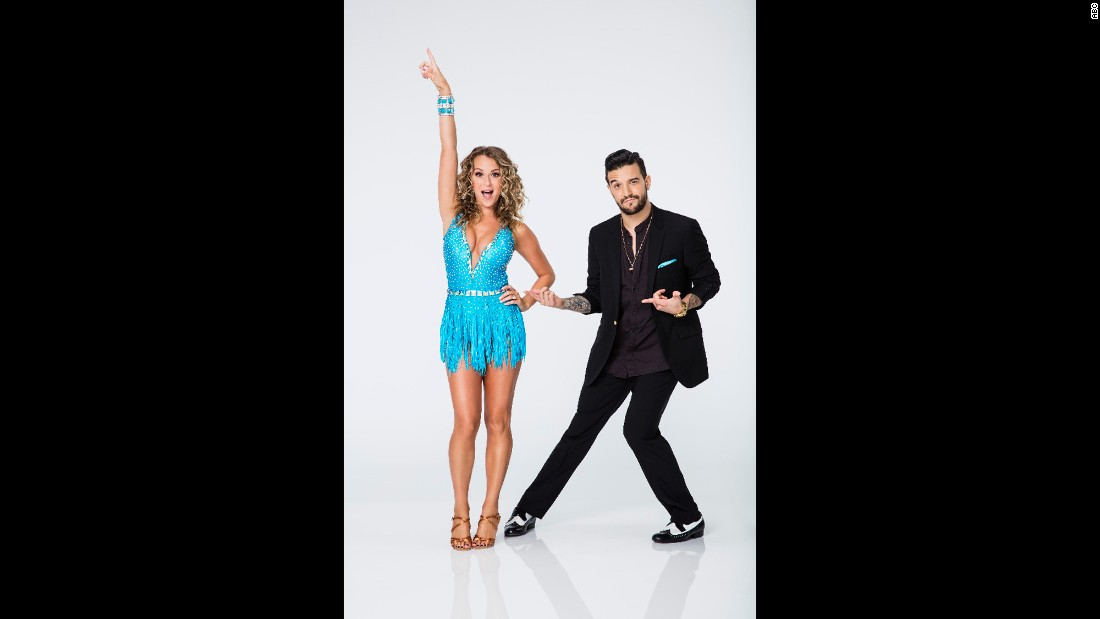 Alexa PenaVega is part of the first married couple to compete -- against each other -- in the dance competition. She was professionally partnered with Mark Ballas and was voted off in week nine.