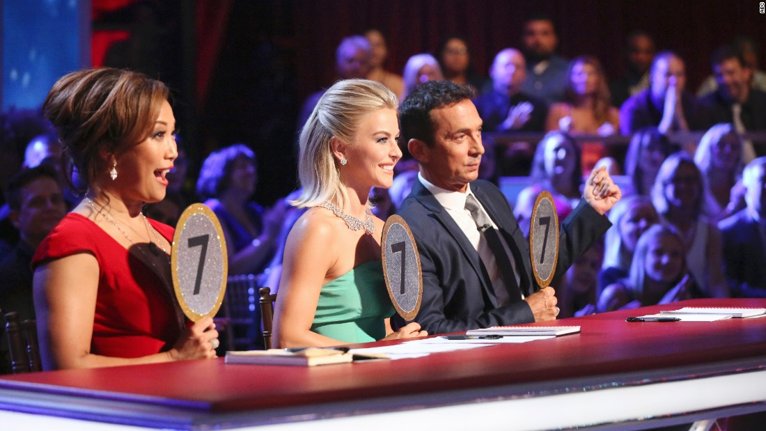 "The ""Dancing with the Stars"" season 21 judges are Carrie Ann Inaba, left, Julianne Hough and Bruno Tonioli."