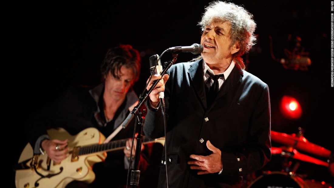 "In the late '80s he joined with four famous friends to form the Traveling Wilburys, and after a 1997 bout with histoplasmosis, he returned to peak form with his '90s and '00s albums ""Time Out of Mind"" and ""Love and Theft."" Dylan, now in his 70s, continues to tour. In 2016, he won the Nobel Prize for literature."