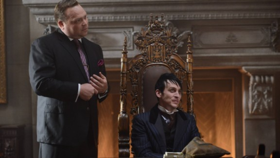 """""""Gotham"""" Season 2: Butch Gilzean (Drew Powell) and Penguin (Robin Lord Taylor) keep things hopping in this popular series which is a prequel to the Batman series. (Netflix)"""