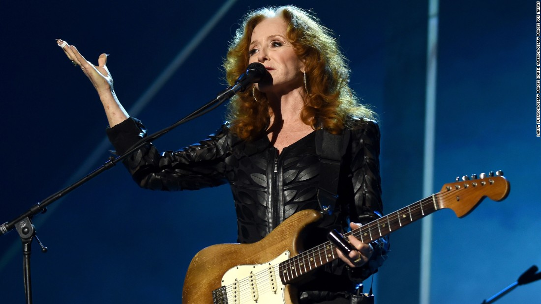 "Though much admired at the time of Farm Aid, Raitt didn't break through to the mainstream until her 1989 album, ""Nick of Time."" The album hit No. 1 and won album of the year at the Grammys. Raitt, now in her 60s, continues to record and tour."