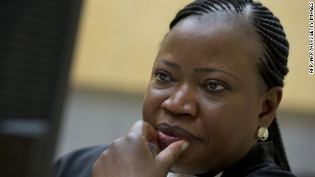 International Criminal Court (ICC) Chief Prosecutor Fatou Bensouda waits on November 27, 2013 for the start of the trial of Congolese Vice President Jean-Pierre Bemba and two close associates at the ICC in The Hague on suspicion of tampering with witnesses in his war crimes trial. Bemba faces three war crimes counts and two counts of crimes against humanity before the ICC in a case related to widespread atrocities committed by his DR Congo-based Movement for the Liberation of Congo (MLC) troops in the Central African Republic between October 2002 and March 2003.  AFP PHOTO / POOL / PETER DEJONG          - netherlands out -        (Photo credit should read PETER DEJONG/AFP/Getty Images)