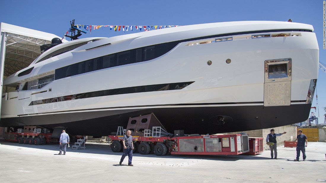 As the name suggests, the Monaco Yacht Show isn't just about state-of-the-art water toys. This is where some of the biggest -- and most expensive -- yachts in the world go on show to prospective buyers. <br />