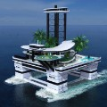 migaloo floating island yacht