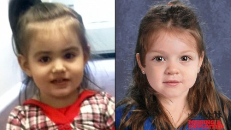 """Baby Doe"" has been identified as Bella Bond.  The image on the left is a photo of Bella taken from Facebook, the one on the left is a composite image provided by the MAssachustts State Police after her remains were found."