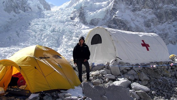 Dr. Luanne Freer founded Everest ER, a nonprofit medical clinic, in 2003. The clinic is open every year during climbing season at Everest Base Camp.