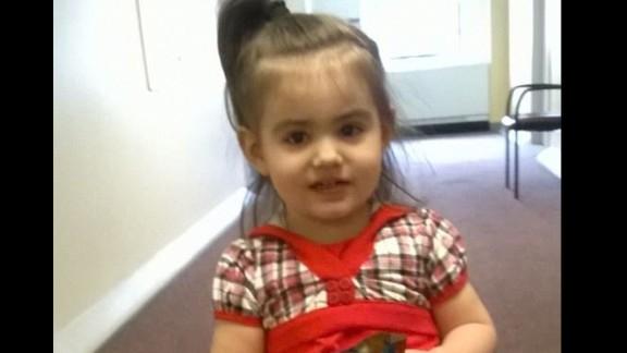 """Baby Doe"" has been identified as Bella Bond, seen her in a family photo taken from Facebook."