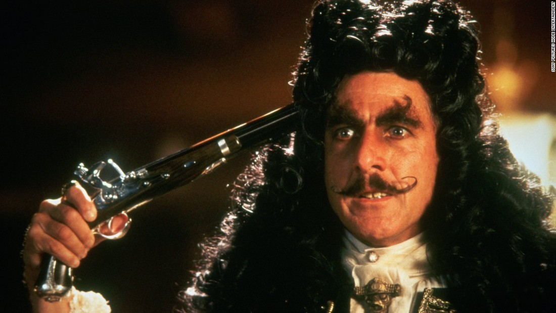 "Hollywood loves pirates. Dustin Hoffman delighted audiences as the titular character in ""Hook,"" the 1991 film suggesting Peter Pan should have stuck to his plan to never grow up. When Captain Hook kidnaps his children, an adult Peter Pan played by Robin Williams must return to Neverland and reclaim his youthful spirit to challenge his old enemy."