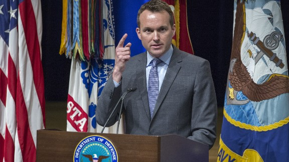 Eric Fanning delivers remarks during the 2013 Lesbian Gay Bisexual Transgender Pride Month Ceremony at the Pentagon Auditorium on June 25, 2013 in Washington.